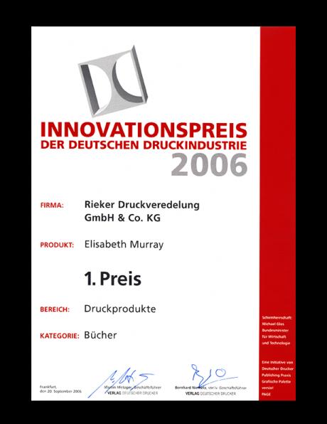 spottbillig begrenzte garantie Neueste Mode Innovationspreis der deutschen Druckindustrie 2006 | RIEKER ...