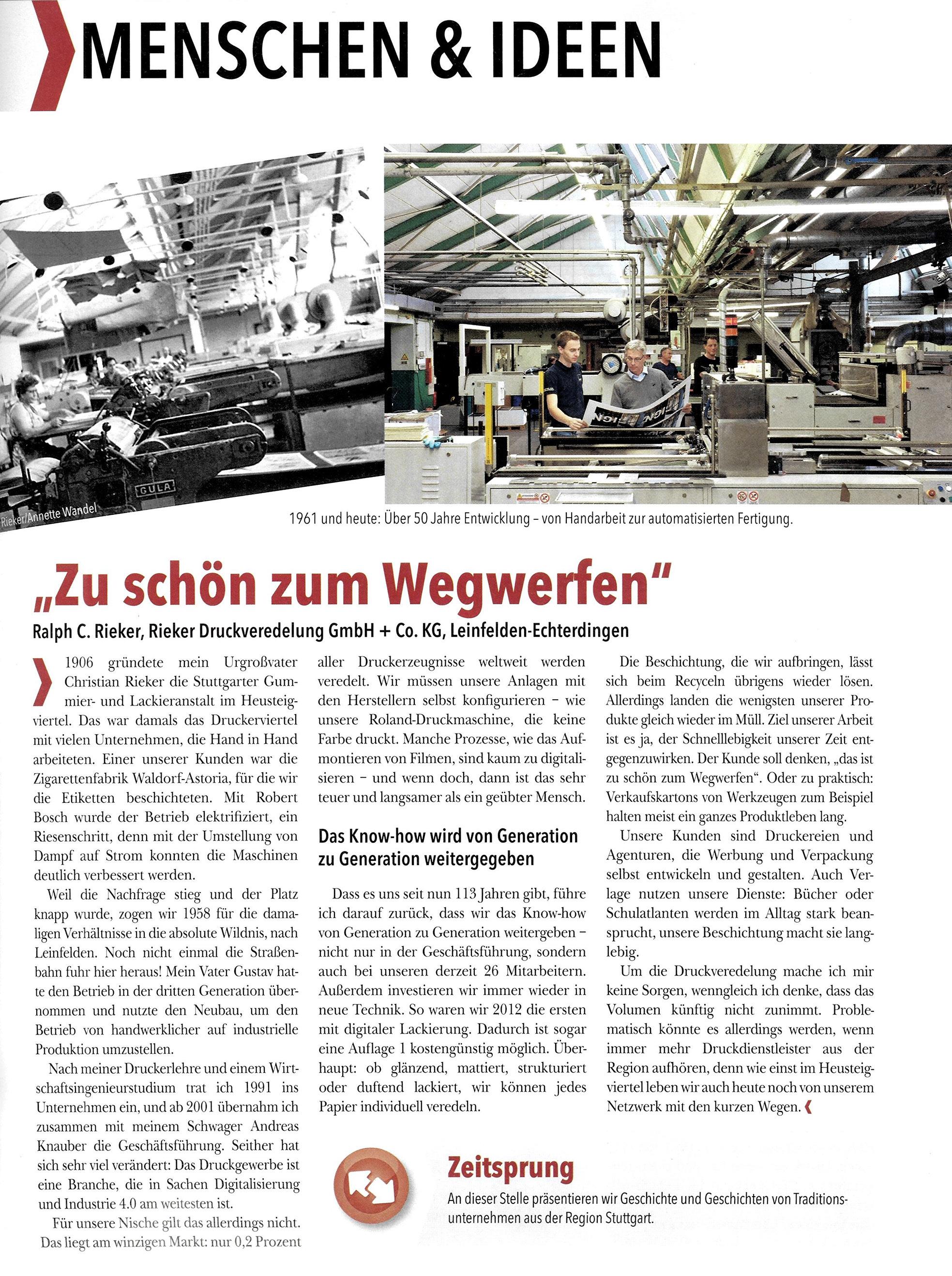 professionelle Website Schatz als seltenes Gut Qualität zuerst Zu schön zum Wegwerfen | RIEKER Druckveredelung Leinfelden ...